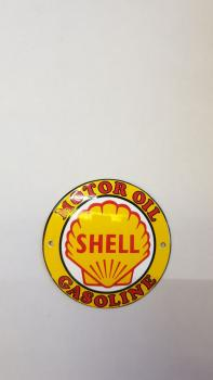 Shell Emaille Schild 10cm