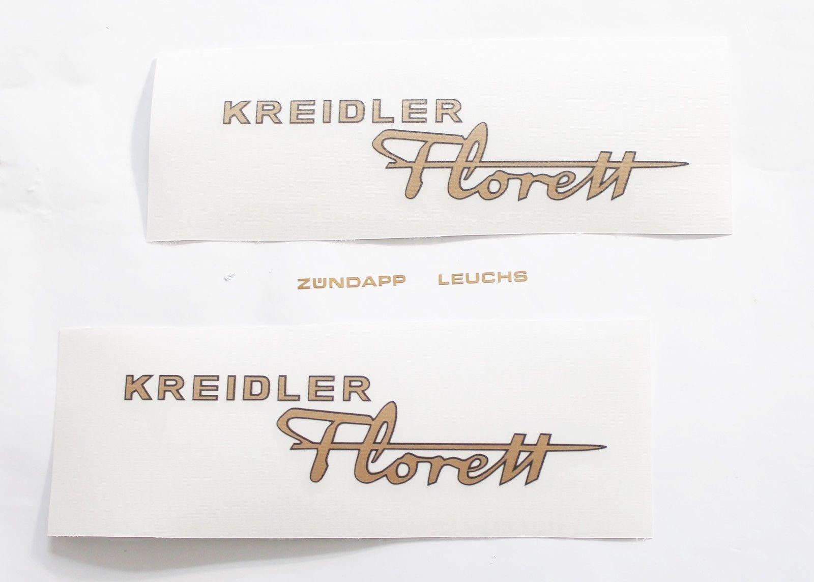 Kreidler Florett K 54 Lf Lh Lfh 2 X Rahmen Aufkleber In Goldschwarz 135mm