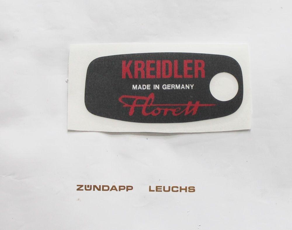 Kreidler Florett K54 LF LH LFH LF-F Werkzeugkasten Aufkleber hinten Schwarz//Rot
