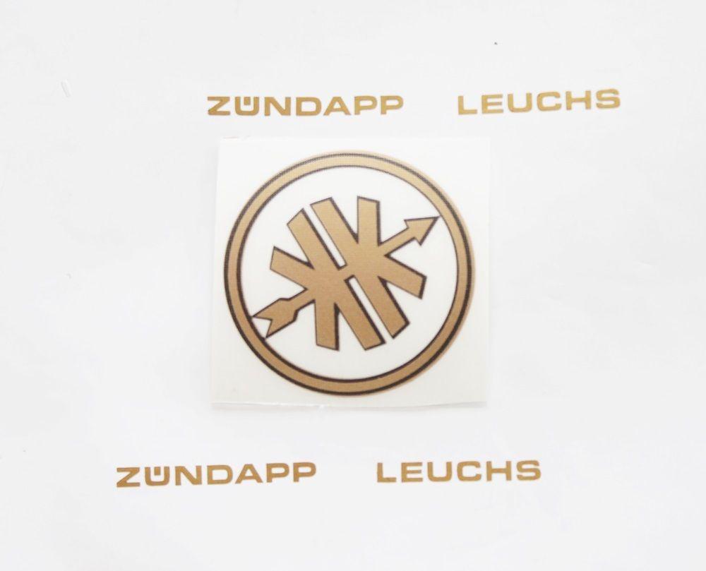 Kreidler Aufkleber Logo Emblem Goldschwarz 38mm